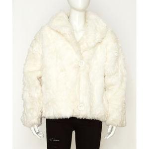 Cream Faux Fur Vintage Jacket